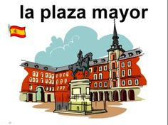 Spanish City PowerPoint Presentation / Bulletin Board / Class Signs / Flashcards by Sue Summers - 89 signs