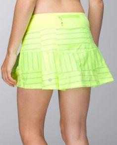 Lululemon Pace Rival Skirt in deauville stripe clear mint