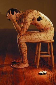 Puzzling body art.