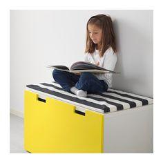 STUVA Bænk med opbevaring - hvid/gul - IKEA