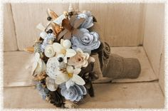 Wood and Paper Flowers for Weddings & Craft Projects by Accents&Petals Paper Flowers Wedding, Wedding Bouquets, Paper Bouquet, Wooden Flowers, Rustic Bouquet, Wedding Crafts, Wedding Stuff, Spring Bouquet, Vintage Theme