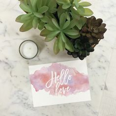 Hello Love Valentines Day Printables - 2016