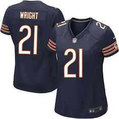 $109.99 Women's Nike Chicago Bears #21 Major Wright Elite Team Color Blue Jersey