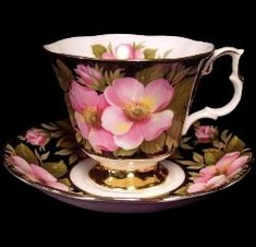 Alberta Rose by Royal Albert - Provincial Flowers Tea Cup Set, My Cup Of Tea, Tea Cup Saucer, Royal Albert, China Cups And Saucers, Teapots And Cups, Teacups, China Tea Sets, Vintage Tea