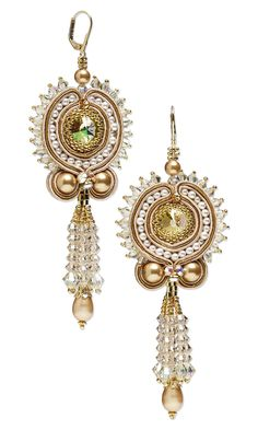 Jewelry Design - Earrings with Swarovski Crystal, Seed Beads and Soutache Cord - Fire Mountain Gems and Beads