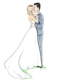 Wedding Couple Drawing At Paintingvalley Com Explore Collection Of Wedding Illustration Wedding Dress Sketches Custom Wedding Illustration