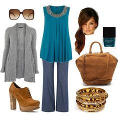 Turquoise & Gold - Plus Size Fashion