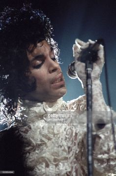 Prince performs during the Purple Rain Tour at the St. Paul Civic Center Arena in St. Paul, Minnesota on December 26, 1984.