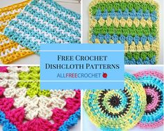 51 Free Crochet Dishcloth Patterns | Add some fun dishcloths to your kitchen... and check out a video of the best yarn to use when working up a crochet dishcloth