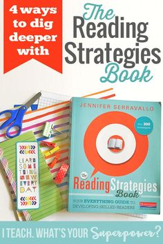 Four Ways to Dig Deeper with The Reading Strategies Book reading comprehension strategies The Reading Strategies Book, Reading Comprehension Strategies, Writing Strategies, Reading Lessons, Reading Resources, Reading Skills, Guided Reading, Close Reading, Reading Books