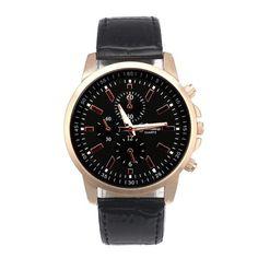 Simply Elegant, Luxury Geneva - Leather Quartz Watch By Malloom
