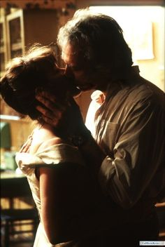 "Clint Eastwood kisses Meryl Streep in ""Bridges of Madison County""...the chemistry between them was off the charts!"