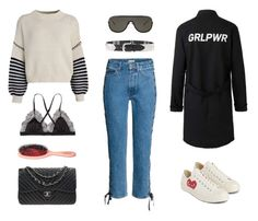 """""""493 - Late April Look"""" by caroline-mathilde ❤ liked on Polyvore featuring Chanel, Sportmax, Acne Studios, Isabel Marant and Converse"""