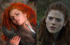 Book's Ygritte X Show's Ygritte