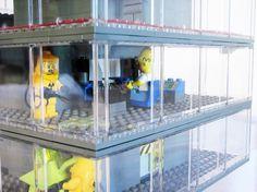 Lego Simpsons : intérieur de la centrale nucléaire by Matt de Lanoy