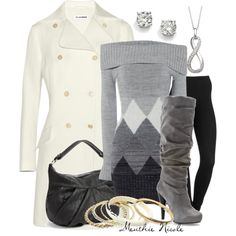 Grey Boots, created by menthie-nicole-gomes on Polyvore