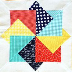 Craft Sew Create: Super Card Trick Block Pattern! PDF download to paper piece block.