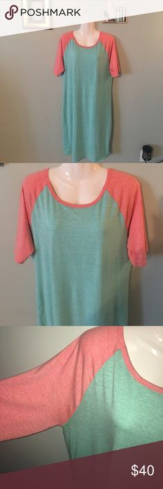 #BaseballTee #Julia #Mint #Coral #SuperSoft 2XL 👗 Soft and comfy and heathered! These colors are amazing together! LuLaRoe Dresses