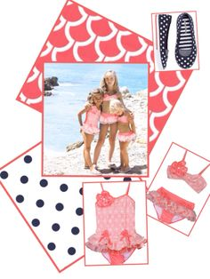 Isobella and Chloe swimsuits , Hanna Andersson slip on tennis shoes