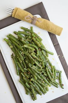 Spicy Garlic Green Beans—an easy side dish recipe that will get anyone to eat their vegetables!