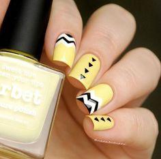 A fresh touch Yellow Nail Polish, New Nail Polish, Nail Polish Designs, Nail Designs, Beautiful Nail Polish, Cute Nails, Makeup, Sweet, Beauty