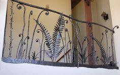Fiddlehead fern railing - good for a custom security door?