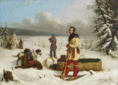 "Paul Kane's commemorative portrait of scientist John Henry Lefroy, who successfully discovered the magnetic north. ""Scene in the Northwest—Portrait of John Henry Lefroy,"" c. 1845–46, Art Gallery of Ontario."