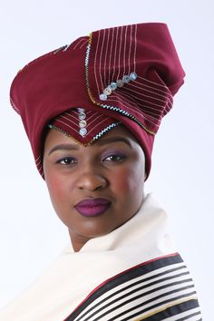 Buy melton doeks & head wraps in loads of colours! In traditional Mfengu & Pondo isiXhosa styles. African Wear Dresses, Emo Dresses, Party Dresses, African Fashion Designers, African Fashion Ankara, African Wedding Attire, African Attire, African Traditional Wear, Traditional Outfits