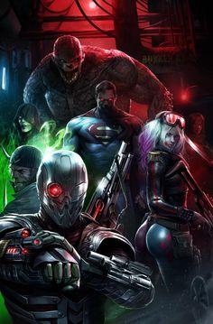 Suicide Squad Rebirth Variant DC Comics Print 2017 NM for sale online Comic Book Villains, Dc Comics Characters, Comic Books Art, Comic Art, Marvel Dc, Marvel Comics, Marvel Heroes, Arte Dc Comics, Foto Batman