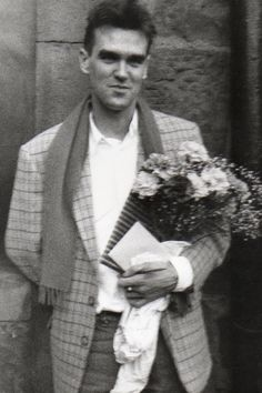 distractionsfromanythinggood: Morrissey, best man at Johnny Marr's wedding, June 20, 1985. I'm melting.
