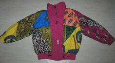 VINTAGE HEAD SKI JACKET TRACKSUIT TOP PINK MULTICOLORED NYLON SHINE FUNNEL NECK