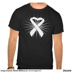 Lung Cancer Heart Ribbon T-shirts