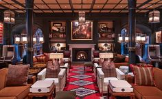 Posted on Cityloque HOTEL JEROME ASPEN A perfect bar for those into Ralph Lauren interiors and top notch people watching.