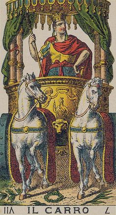 The Chariot - Ancient Italian Tarot