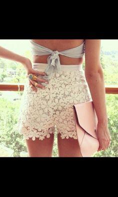 lace shorts pantaloncini di pizzo