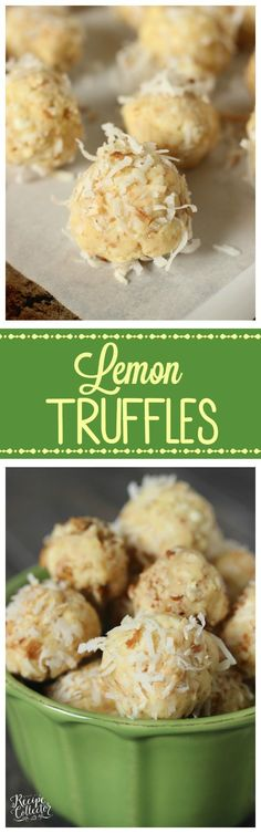 Lemon Truffles - These are a lemon lover's delight and made with only a few ingredients. No baking required!