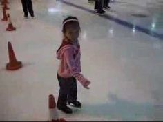 Clié Pan's First Ice Skate Session