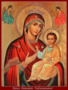 Blessed Mother Mary, Blessed Virgin Mary, Orthodox Prayers, Orthodox Christianity, Catholic Pictures, Queen Of Heaven, Religious Paintings, Mary And Jesus, Holy Mary