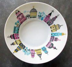 Melitta-Zuerich-Dessertschalen-Russisch-poppig-Jupp-Ernst-Schalen-Midcentury