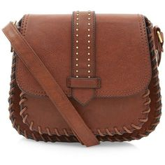 New Look Brown Tab Pocket Front Saddle Bag ($23) ❤ liked on Polyvore featuring bags, handbags, shoulder bags, purses, accessories, bolsas, brown, shoulder handbags, handbags purses and crossbody saddle bag