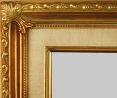 """Beautiful Picture Frame! Perfect For Artwork, Photographs, Canvas Paintings, Oil Paintings, Watercolor Paintings, Acrylic Paintings, Portraits, Wedding Pictures, Diplomas, Family Photographs & More.  Classic Gold Swirl Linen 2.25"""" Wide Picture Frame."""