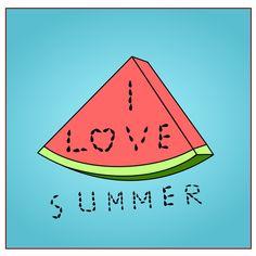 Summer Clipart, Homemade Cards, Art Images, Summer Fun, Watermelon, Fonts, Clip Art, Writing, My Love