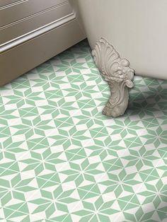 Vinyl Floor Tile Sticker - Scandinavia Lichen | Quadrostyle.com - Peel N' Stick Tile Stickers