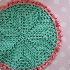 Crochet coaster (tutorial)