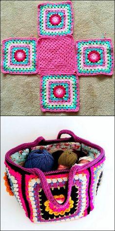 Modern And Latest Crochet Pattern Ideas – Diy & Craft – Granny Square Mode Crochet, Bag Crochet, Crochet Diy, Crochet Handbags, Crochet Purses, Crochet Gifts, Crochet Stitches, Crochet Ideas, Crochet Clutch