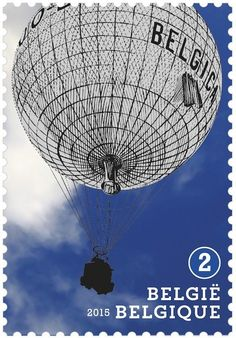 "Stamp: Balloon ""Belgica"" of Ernest De Muyter (Belgium) (Balloons) Mi:BE 4607,Yt:BE 4531,Bel:BE 4561"