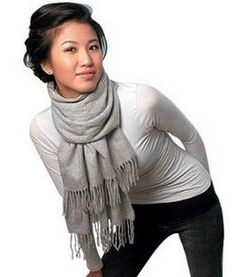 How to Tie and Wear a Scarf. My fav part of winter is hands down wearing scarves <3