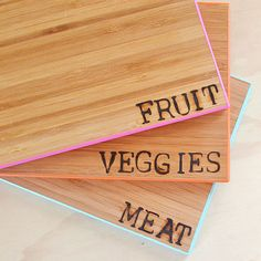 Seared, sealed, delivered? Heat-stamped wood cutting boards make the perfect housewarming or holiday present for the typography-loving chef.