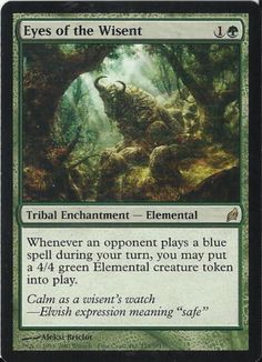 1 Eyes of the Wisent Lorwyn MTG Magic The Gathering Green Rare