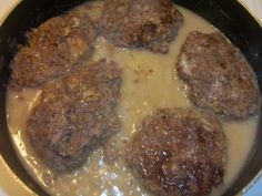 Beef Patties in Onion Gravy